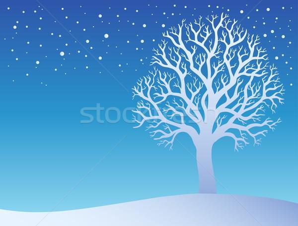 Winter tree with snow 3 Stock photo © clairev