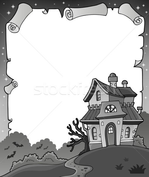 Blanco negro halloween pergamino papel arte noche Foto stock © clairev