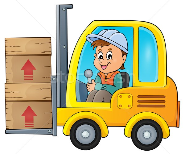 Fork lift truck theme image 1 Stock photo © clairev