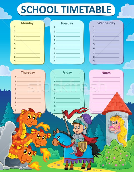 Weekly school timetable thematics 9 Stock photo © clairev