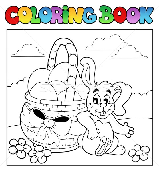 Coloring book with Easter theme 2 Stock photo © clairev