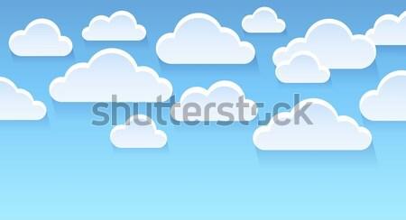 Stylizowany chmury obraz niebo sztuki Chmura Zdjęcia stock © clairev