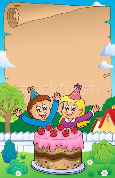 Pergamin ciasto dzieci papieru dzieci Zdjęcia stock © clairev