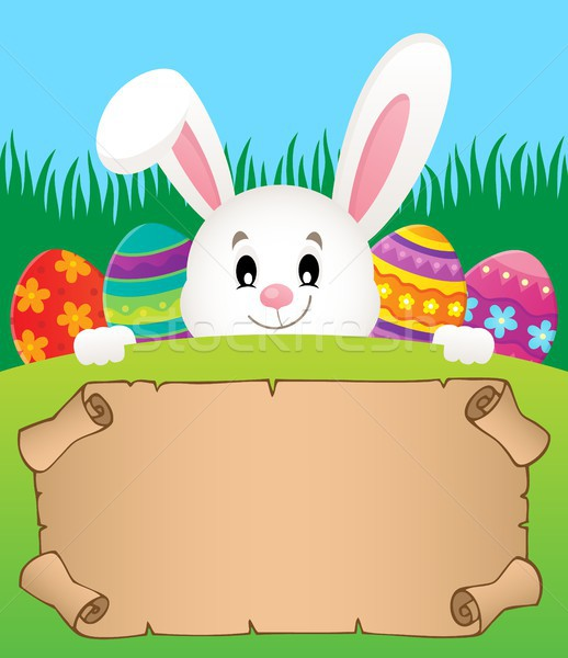 Parchment and Easter bunny theme 2 Stock photo © clairev
