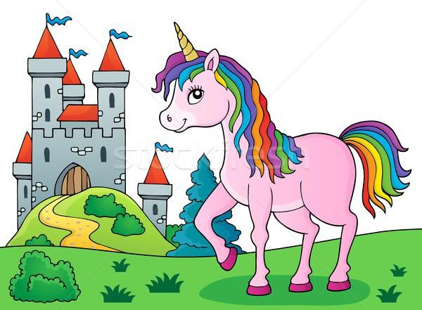 Happy unicorn topic image 5 Stock photo © clairev