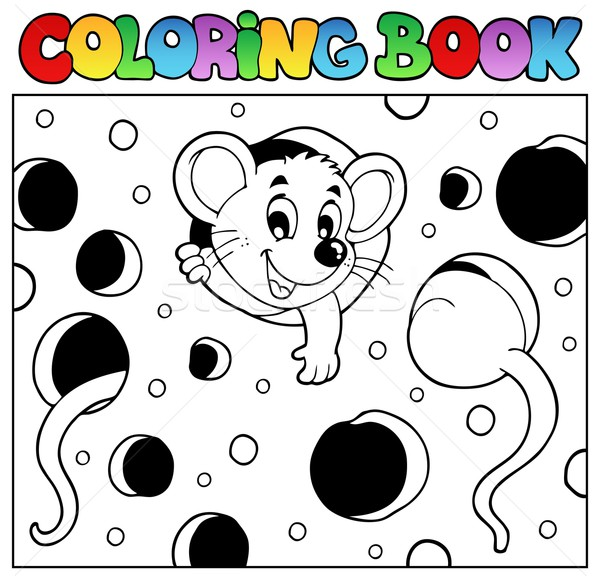 Coloring book with mouse 2 Stock photo © clairev