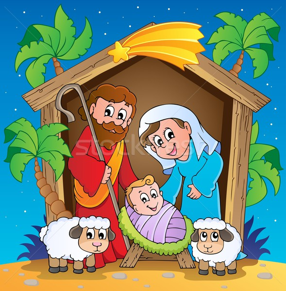 Christmas Nativity scene 3 Stock photo © clairev