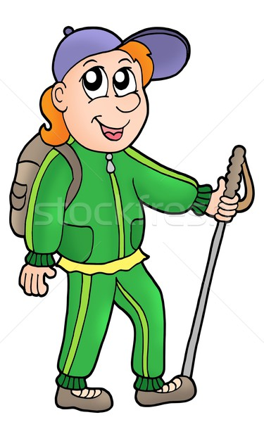 Cartoon hiker Stock photo © clairev