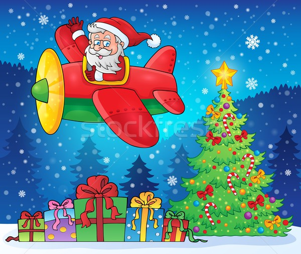 Santa Claus in plane theme image 9 Stock photo © clairev