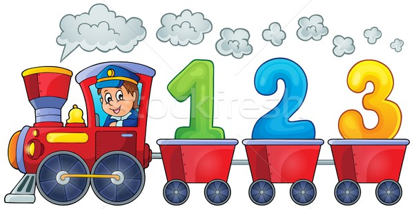 Train with three numbers Stock photo © clairev