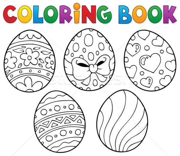 Coloring book Easter eggs theme 1 Stock photo © clairev