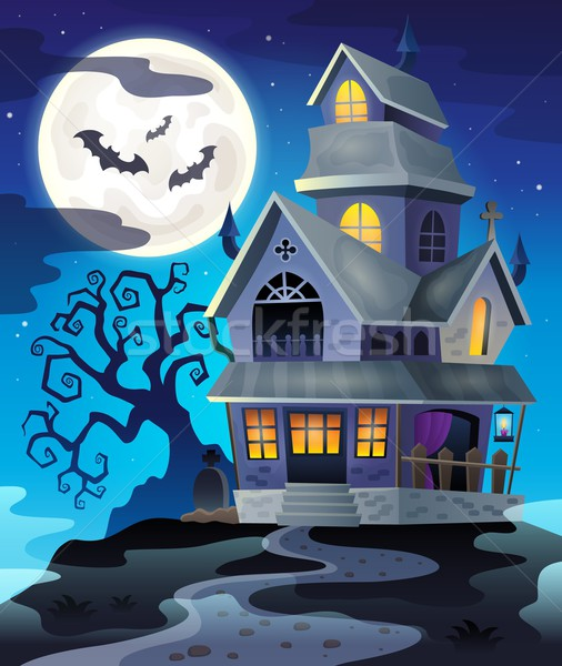 Image with haunted house thematics 3 Stock photo © clairev