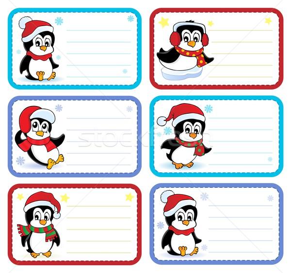 Natal nome coleção papel arte Foto stock © clairev