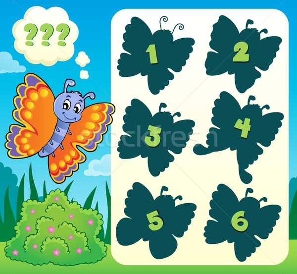 Butterfly riddle theme image 1 Stock photo © clairev