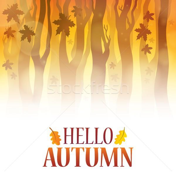 Hello autumn theme image 4 Stock photo © clairev