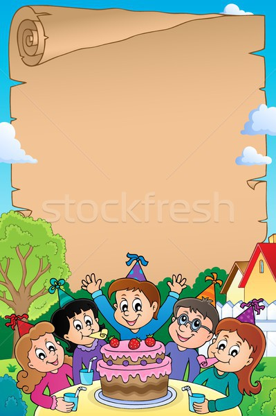 Kids party topic parchment 2 Stock photo © clairev