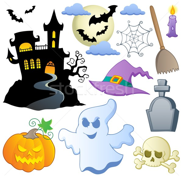 Halloween theme collection 1 Stock photo © clairev