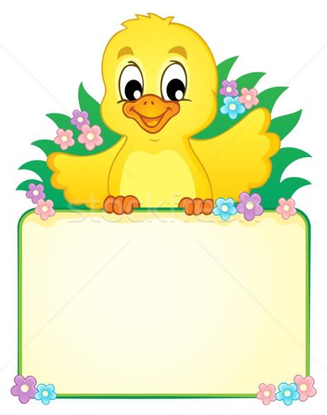 ストックフォト: 鶏 · 画像 · 春 · 幸せ · デザイン · 夏
