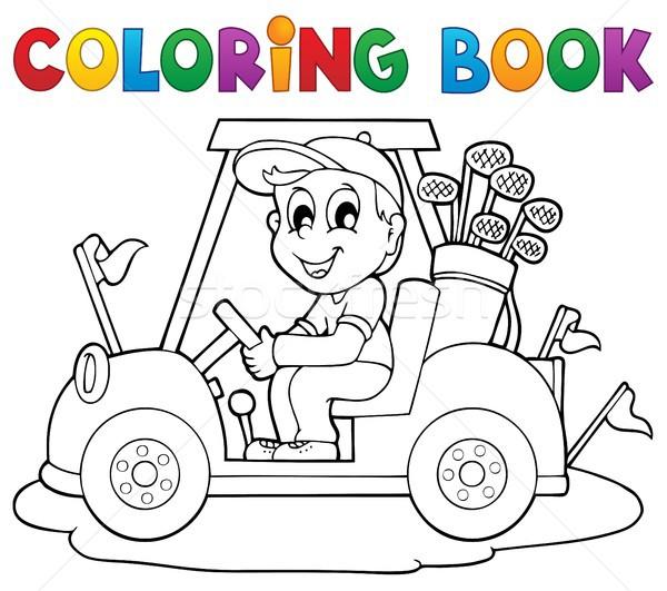 Coloring book outdoor sport theme 2 Stock photo © clairev