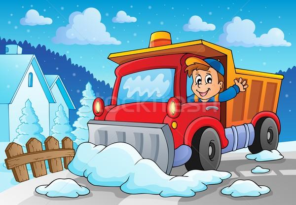 Snow plough theme image 2 Stock photo © clairev