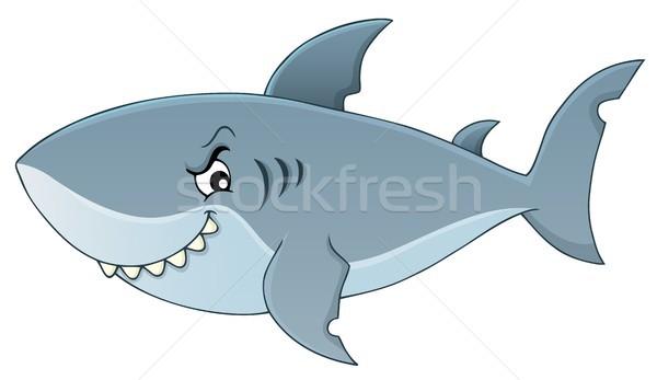 акула тема изображение рыбы морем искусства Сток-фото © clairev
