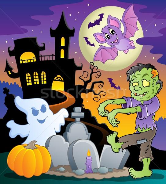 Halloween topic scene 1 Stock photo © clairev