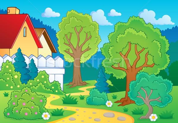 Tree theme landscape 3 Stock photo © clairev