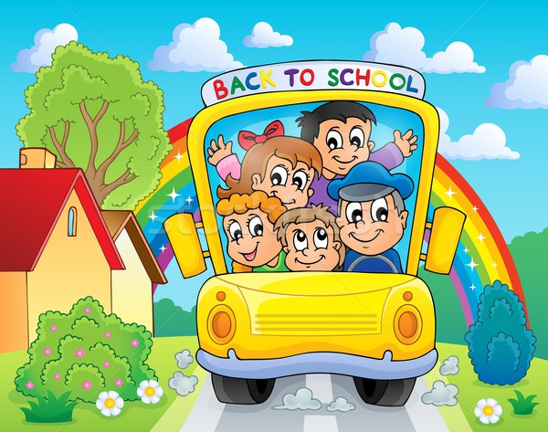 Image with school bus theme 4 Stock photo © clairev
