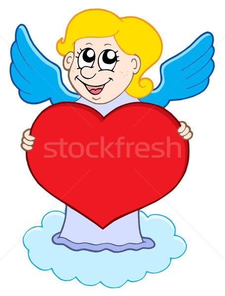 Glimlachend wolk liefde gelukkig kind ontwerp Stockfoto © clairev