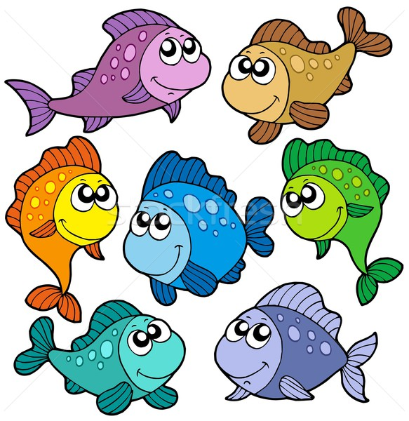 Various cute fishes collection Stock photo © clairev