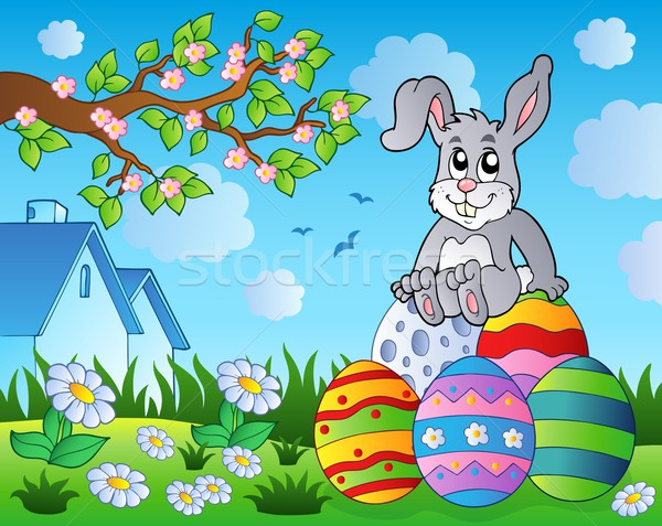 Easter bunny theme image 9 Stock photo © clairev