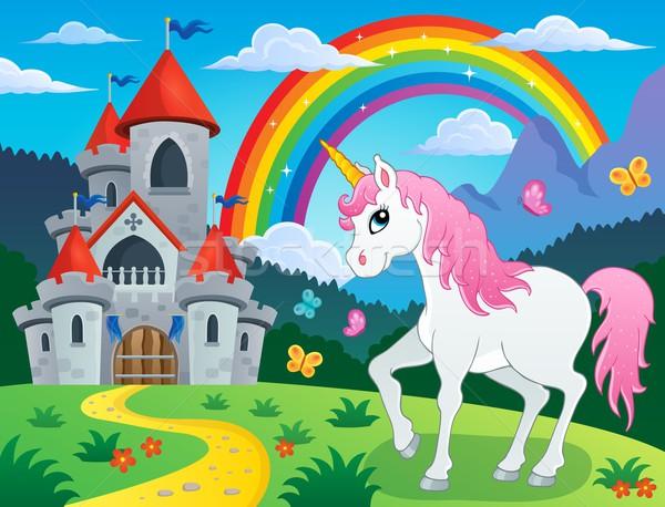 Fairy tale unicorn theme image 4 Stock photo © clairev