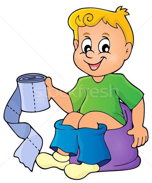 Boy on potty theme image 1 Stock photo © clairev