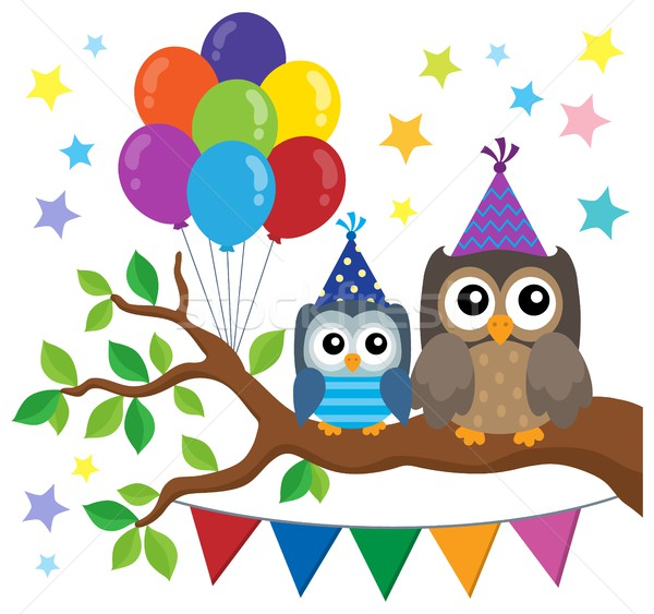 Party owls theme image 1 Stock photo © clairev