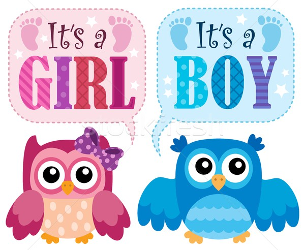 Is it a girl or boy theme 2 Stock photo © clairev