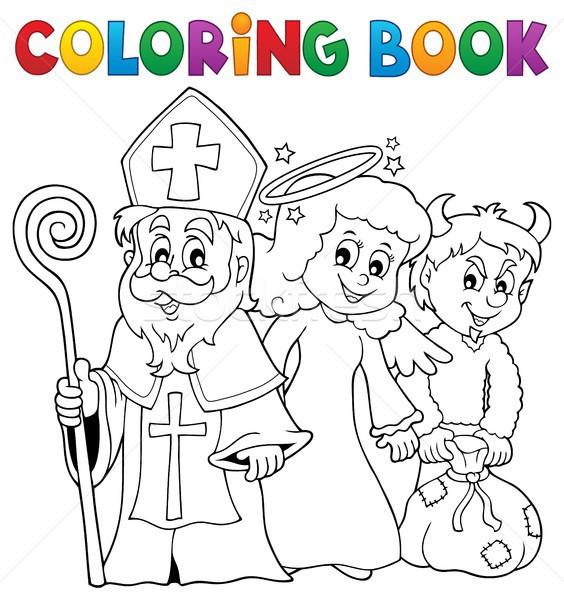 Coloring book Saint Nicholas Day theme 1 Stock photo © clairev