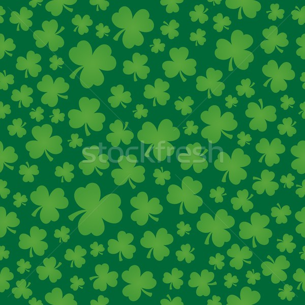 Three leaf clover seamless background 6 Stock photo © clairev