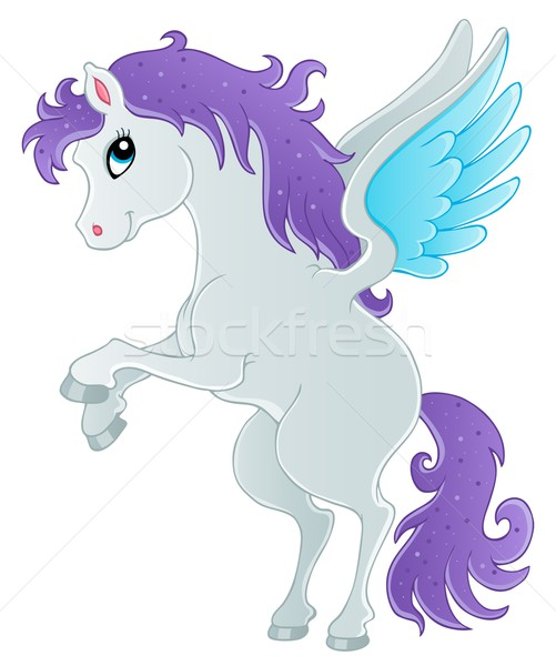 Stock photo: Fairy tale pegasus theme image 1