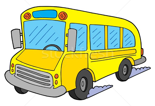 Iskolabusz citromsárga iskola gyermek diák utazás Stock fotó © clairev