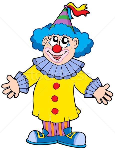 ストックフォト: 笑みを浮かべて · ピエロ · パーティ · 髪 · マスク · 面白い