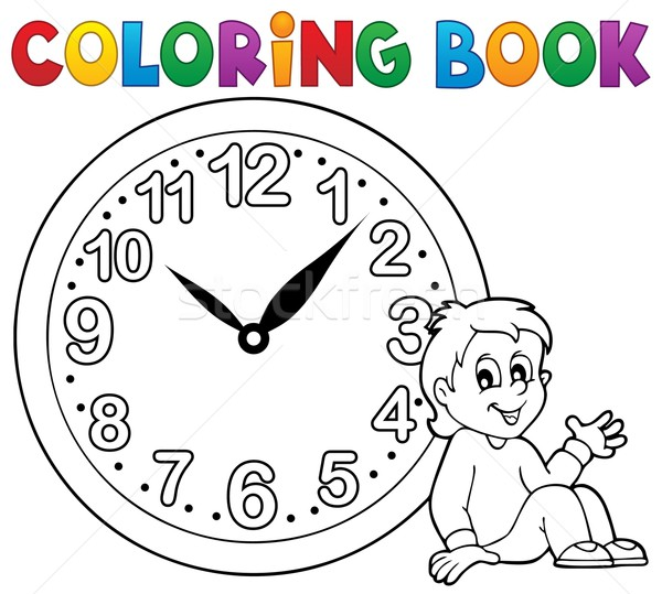 Coloring book clock theme 1 Stock photo © clairev