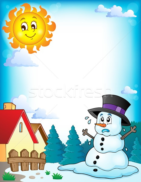 Melting snowman theme image 3 Stock photo © clairev