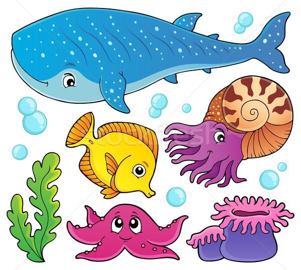 Ocean life theme set 1 Stock photo © clairev