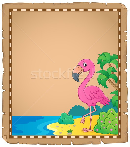 Flamingo topic parchment 1 Stock photo © clairev