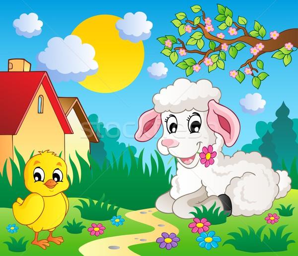 Scene with spring season theme 4 Stock photo © clairev