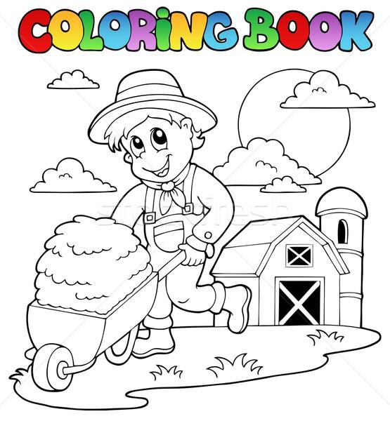 Coloring book farm theme 3 Stock photo © clairev