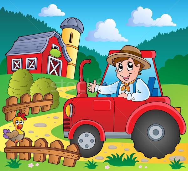 фермы изображение машина человек стране рисунок Сток-фото © clairev