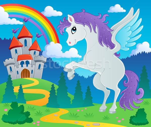 Fairy tale pegasus theme image 2 Stock photo © clairev
