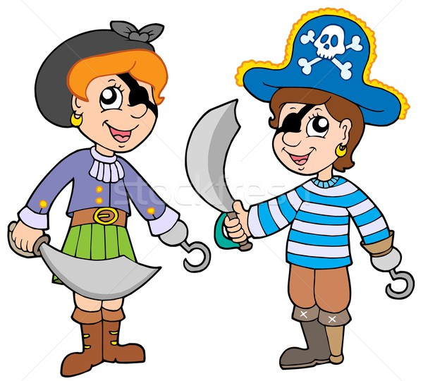 Pirate boy and girl Stock photo © clairev