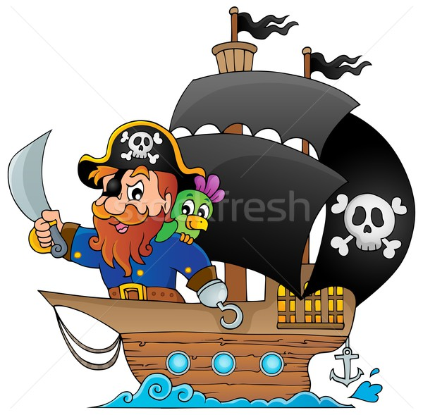 Ship with pirate 1 Stock photo © clairev